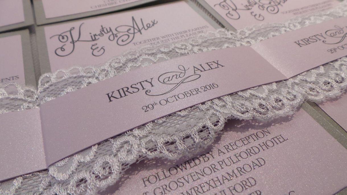Printing On A Pearlescent Wedding Invitation