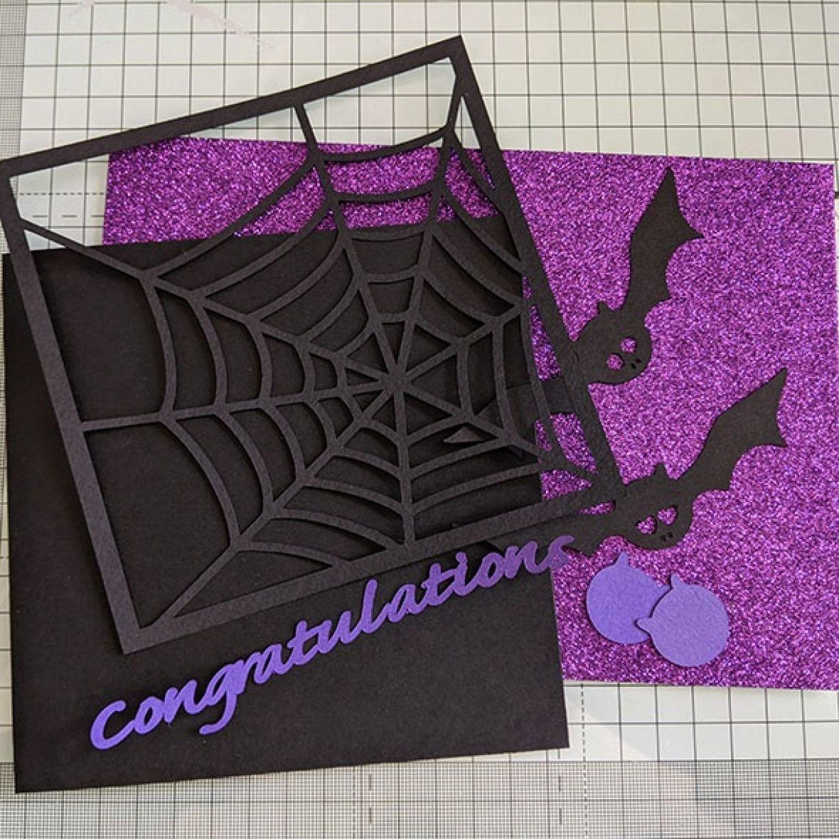 Purple Sparkle Bat Congrats Nm 1