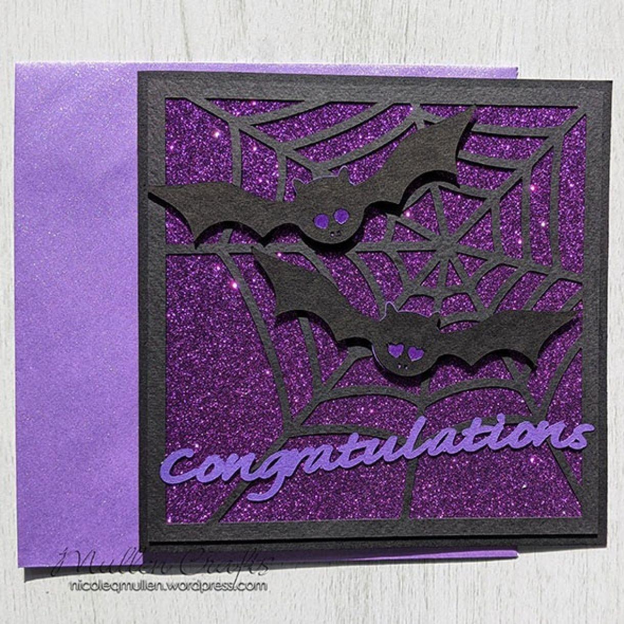 Purple Sparkle Bat Congrats Nm 5