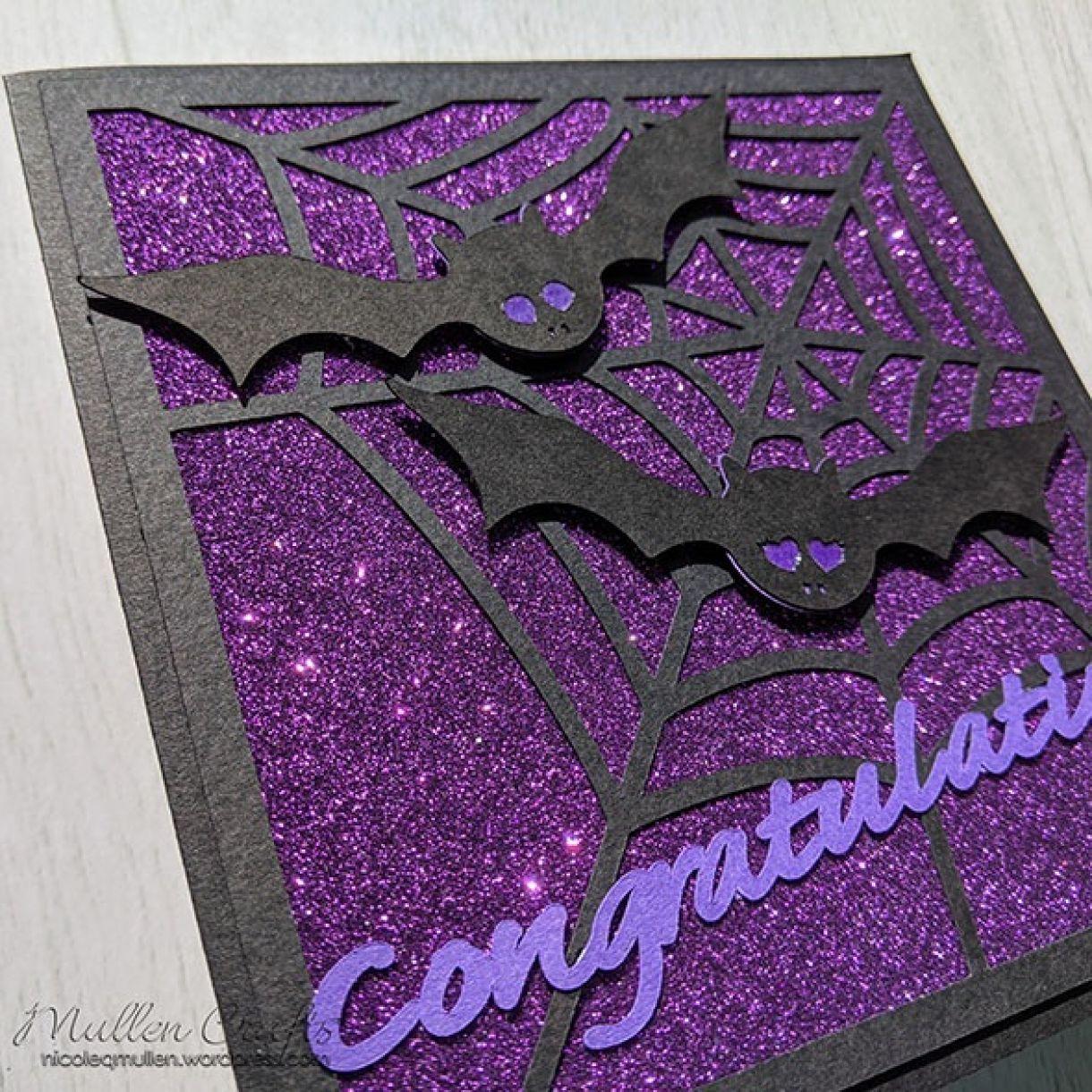 Purple Sparkle Bat Congrats Nm 6