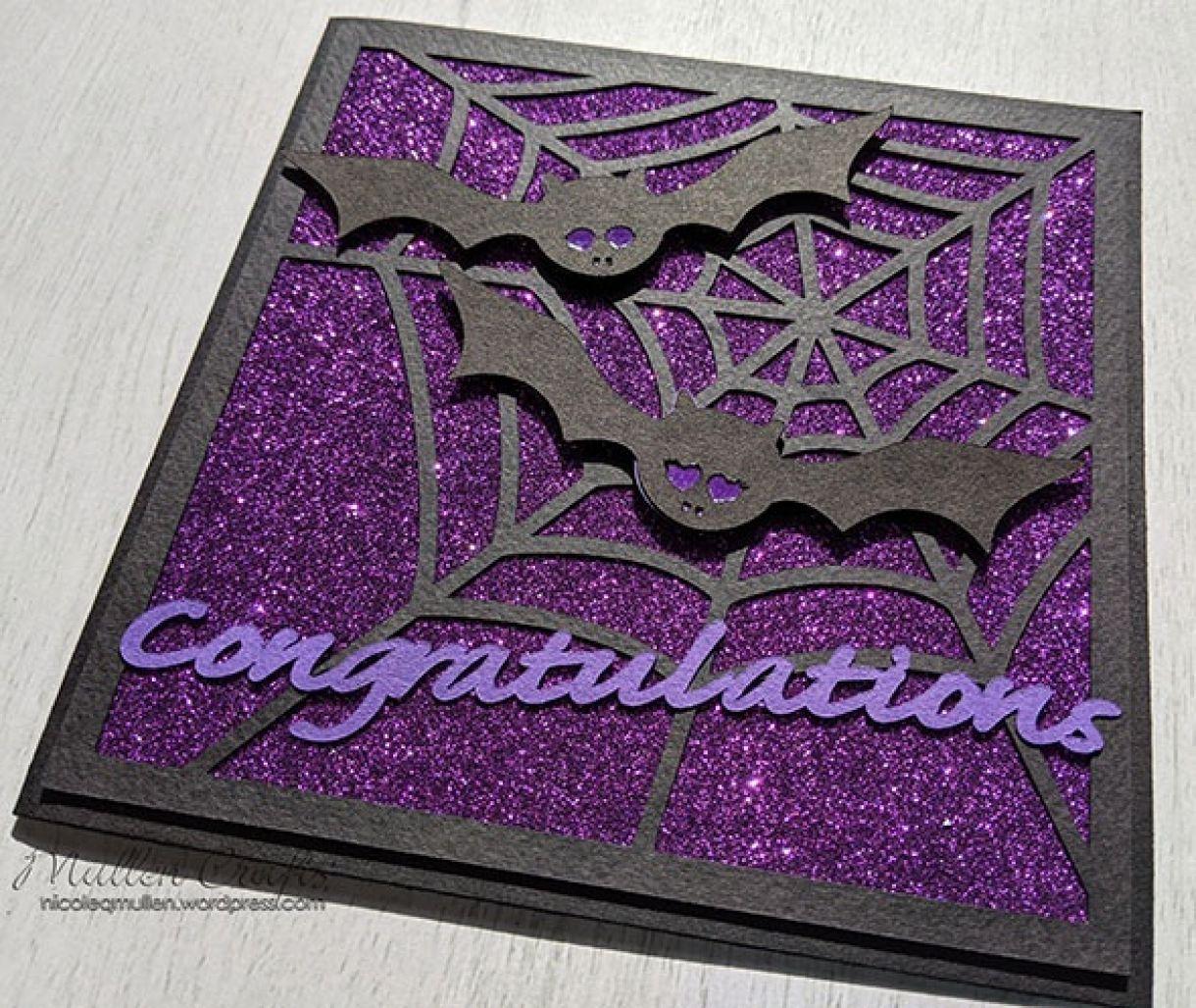 Purple Sparkle Bat Congrats Nm 7
