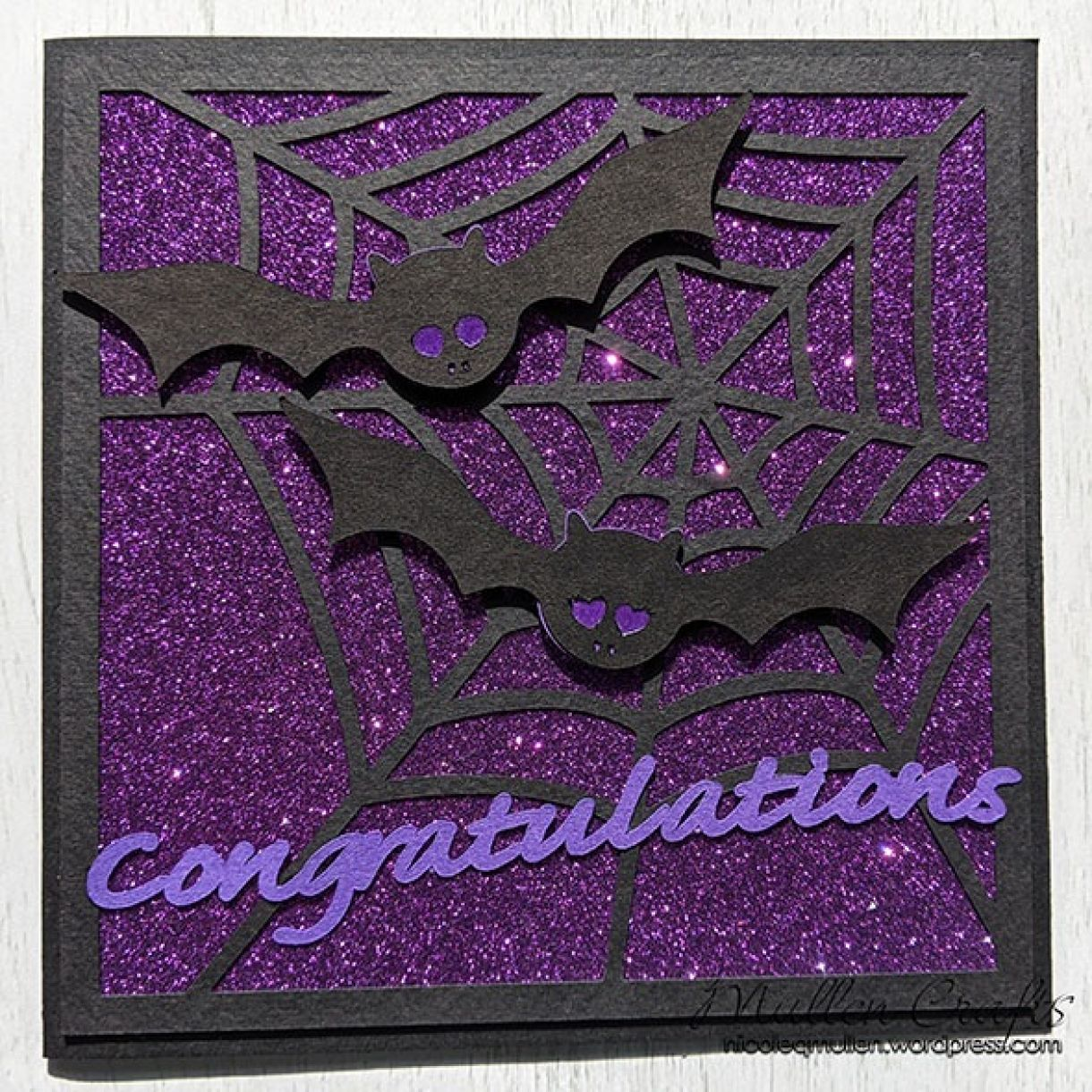 Purple Sparkle Bat Congrats Nm 8