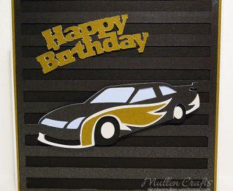 Shiny Race Car Card