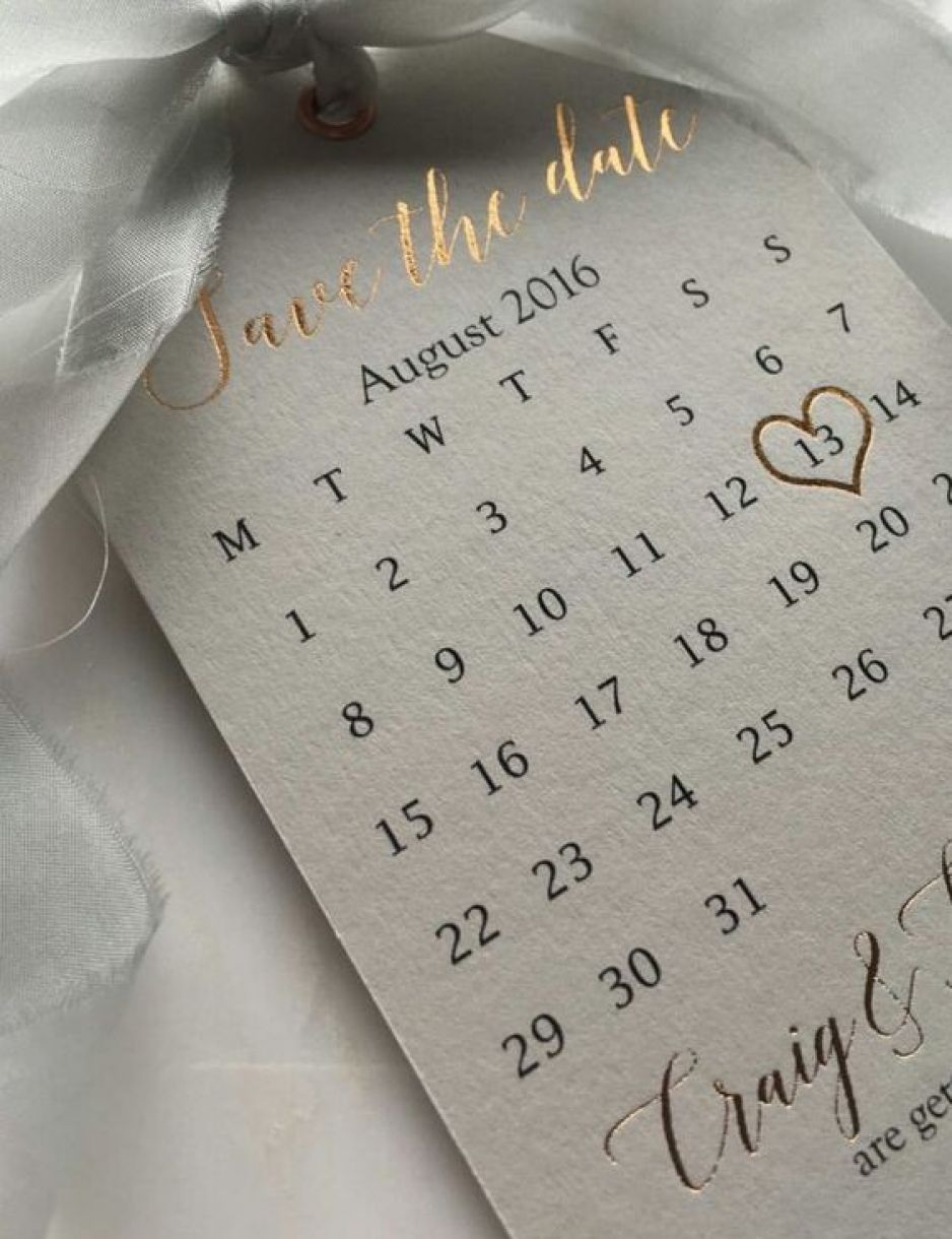 Save The Date Calendar Idea