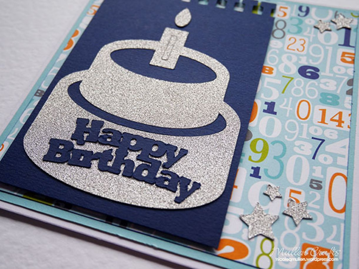 Silver Sparkle Birthday Cake 2