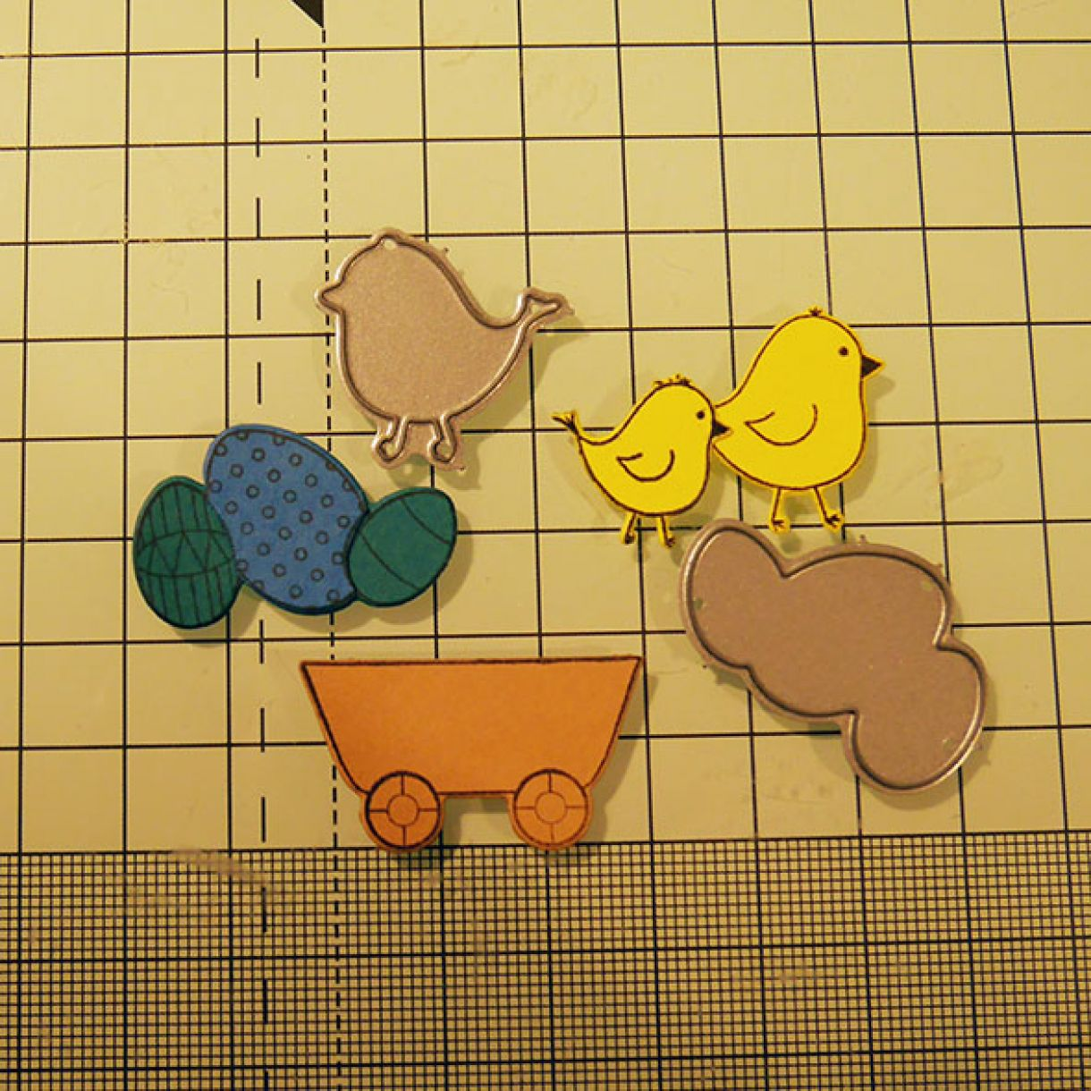 Spring Chicks Card 1