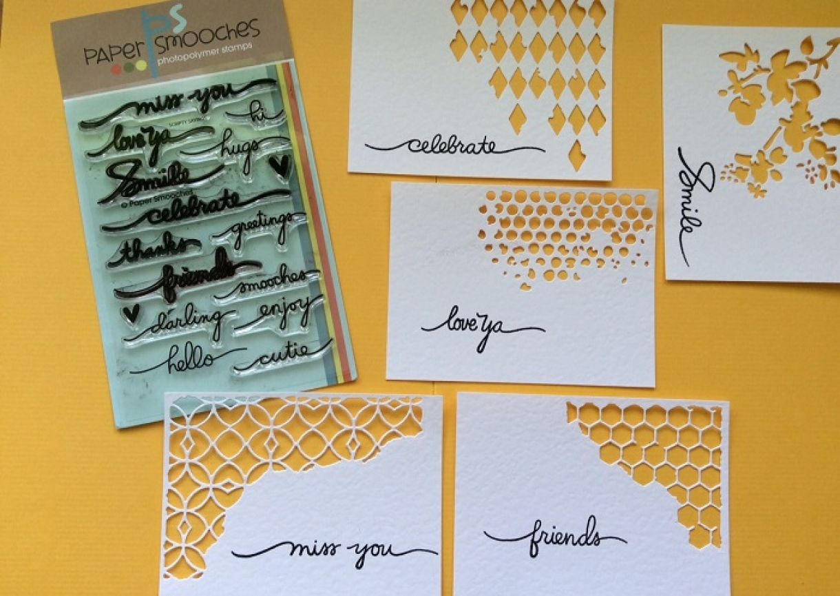 Stamped White Card With Message 01