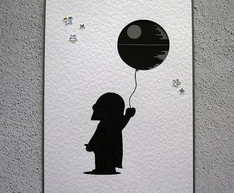 Death Star Balloon Card!
