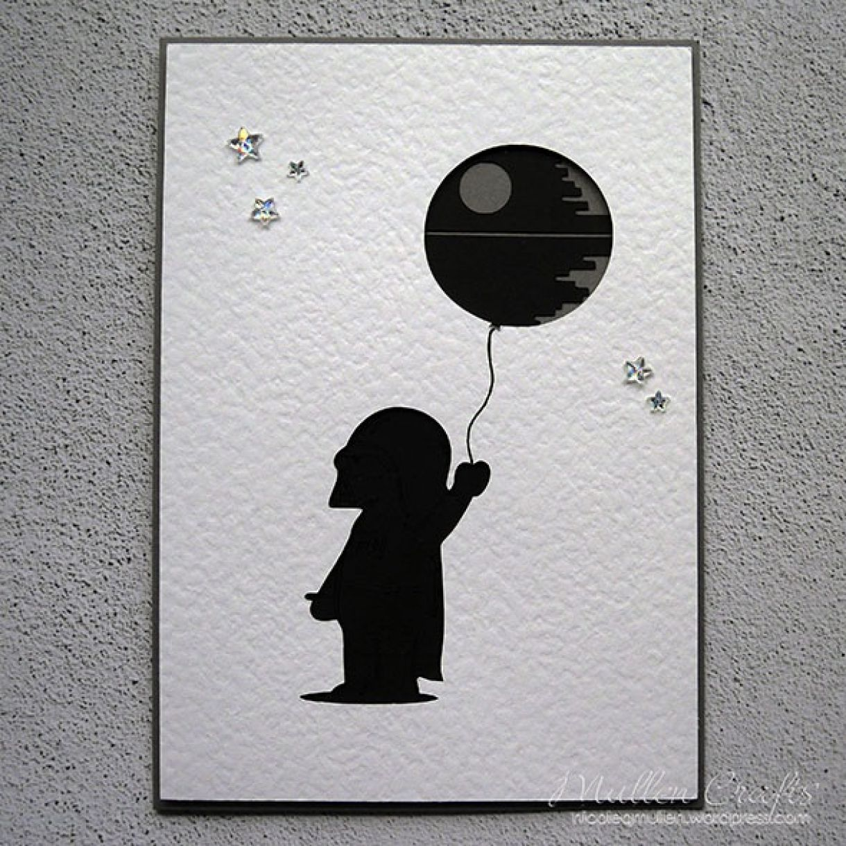 Star Wars Balloon Death Star Bday Card 4