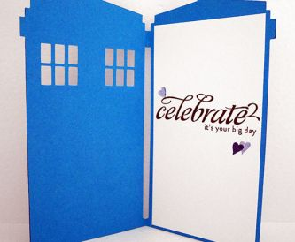 Non traditional wedding card - Dr Who Tardis!