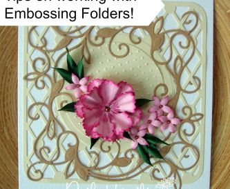 How to use embossing folders - extra touches