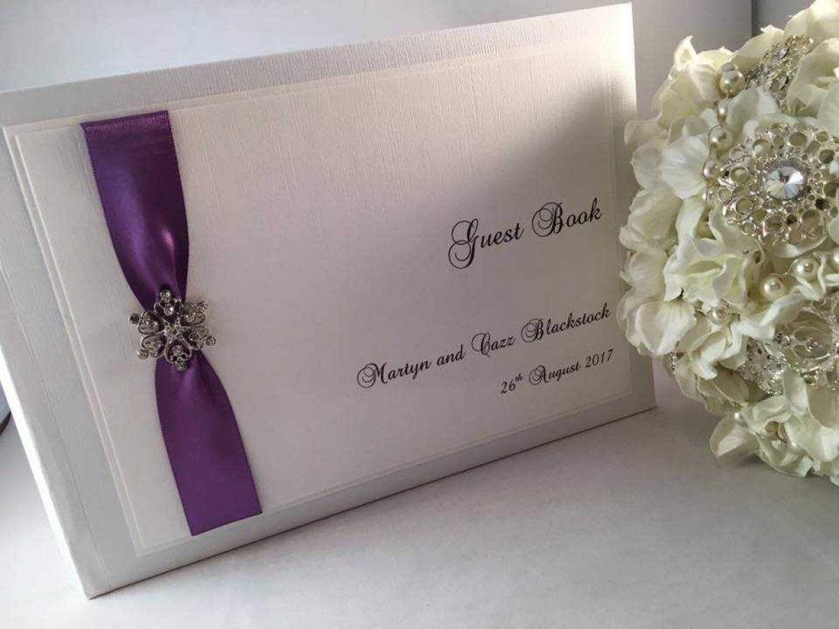 Traditional Handmade Wedding Stationery Designer Guest Book