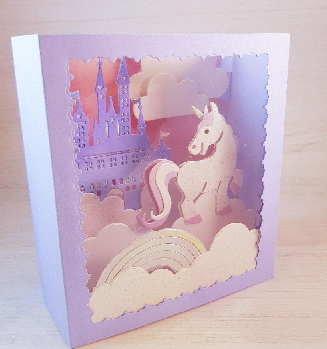Unicorn Card Pack Side Shadow Box 2