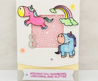 How To Make An 8th Birthday Unicorn Sparkle Card