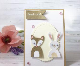 Animal Die Cuts Good Luck Card
