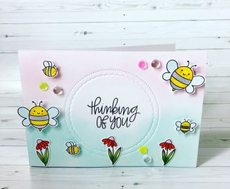 Thinking Of You Card- Ink blending Onto White Card Super Smooth
