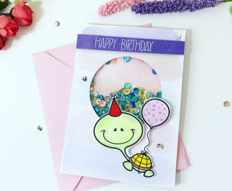 How To Make A Turtle Shaker Card