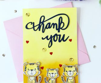 How To Make A Cute Cubs Thank You Card