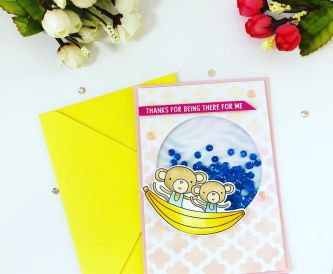 How To Make A Summer Fun Shaker Card