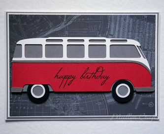 VW Bus Birthday Card