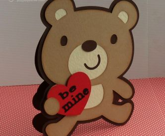 How to make this Bear Shaped Valentine's Day card using the Cricut Explore