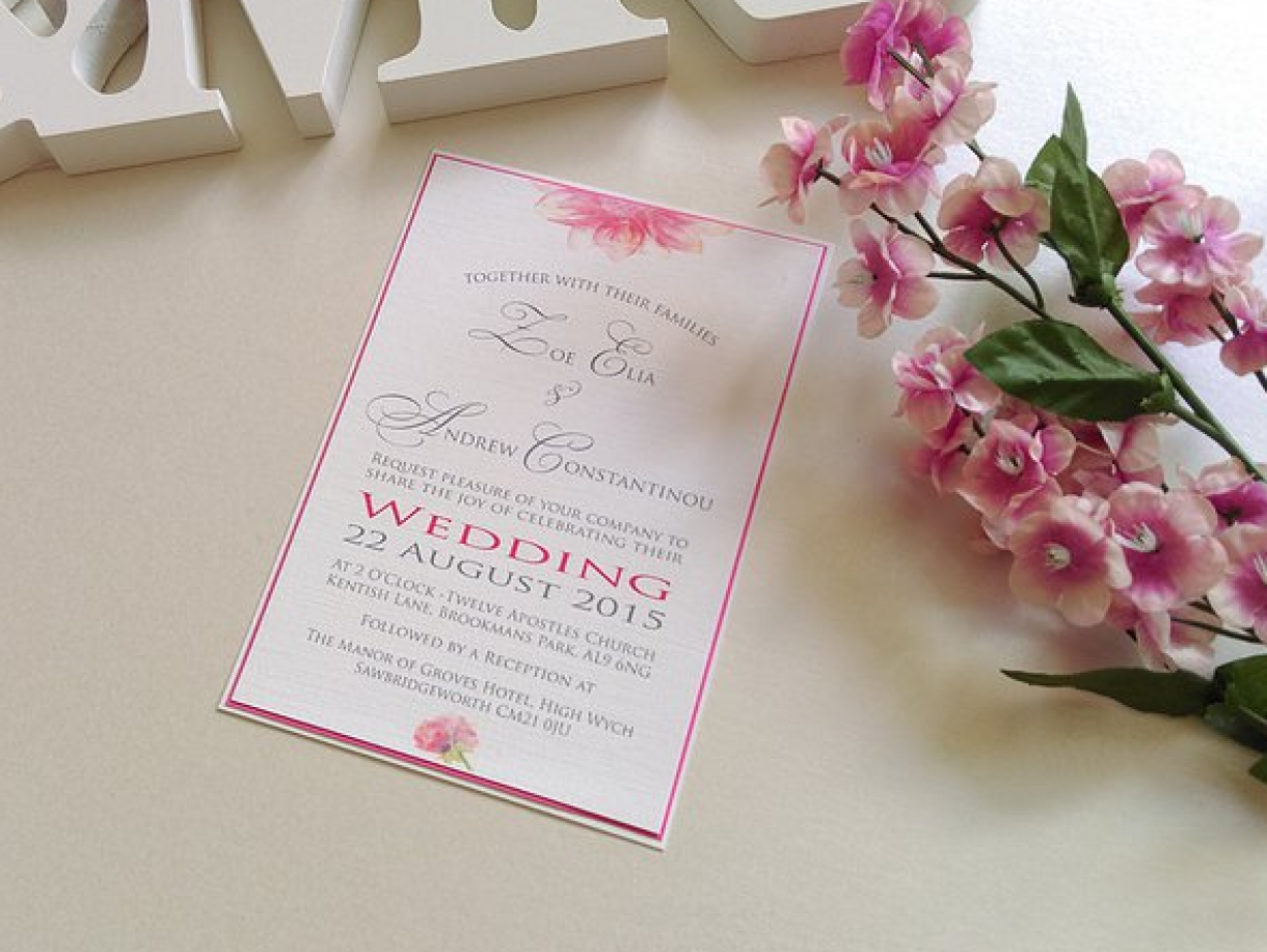 Wedding Stationery Peony
