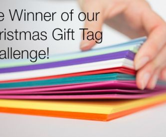Christmas Gift tag Challenge - The Winner!
