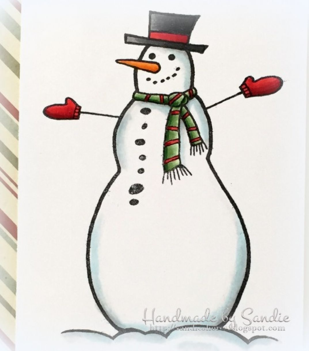 woodware-funny-snowman-stamp