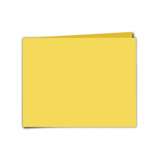 "7"" x 5"" Daffodil Yellow Card Blanks"