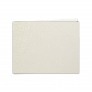 "7"" x 5"" Ivory Pearlised Card Blanks"