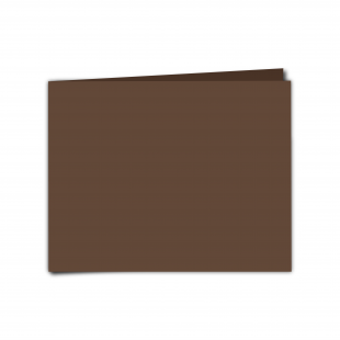 "7"" x 5"" Mocha Brown Card Blanks"