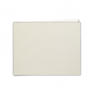 "7"" x 5"" Natural White Pearlised Card Blanks"