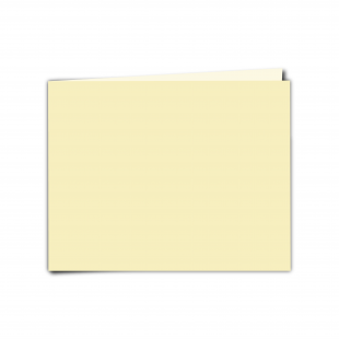 "7"" x 5"" Rich Cream Linen Card Blanks"