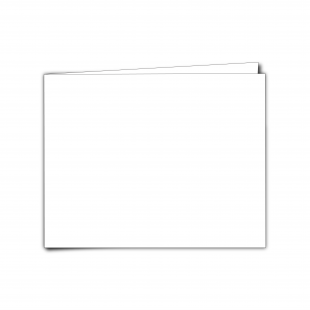 "7"" x 5"" Landscape White Plain Card Blanks"