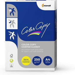 A4 Mondi Color Copy White Gloss 250gsm | 250 Sheets