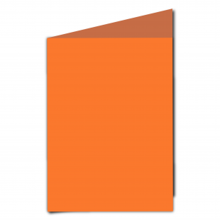 A5 Portrait Mandarin Orange Card Blanks