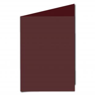A5 Portrait Maroon Card Blanks