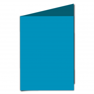A5 Ocean Blue Card Blanks