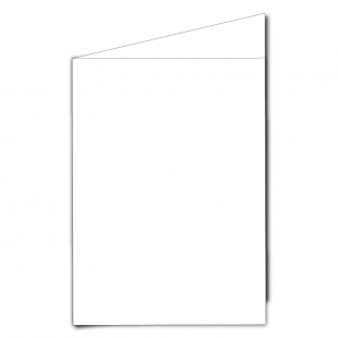 A5 Portrait White Plain Card Blanks
