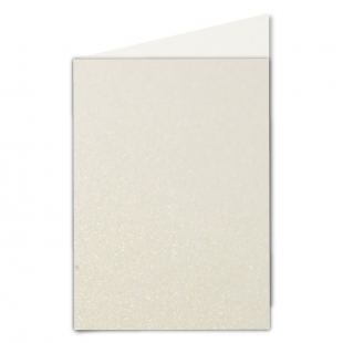 A5 Ivory Pearlised Card Blanks