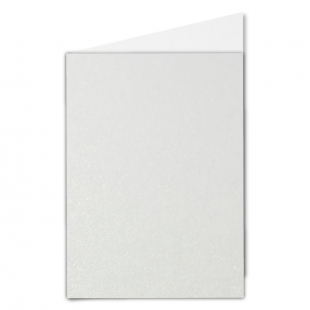 A5 Natural White Pearlised Card Blanks