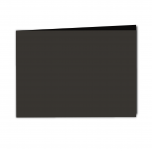 A5 Landscape Black Card Blanks