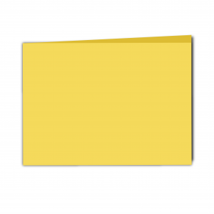 A5 Landscape Daffodil Yellow Smooth Card Blanks