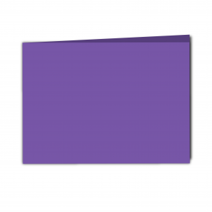 A5 Landscape Dark Violet Card Blanks