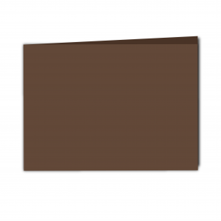 A5 Landscape Mocha Brown Card Blanks