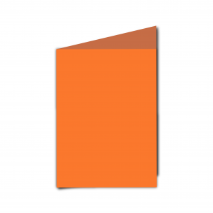 A6 Portrait Mandarin Orange Card Blanks