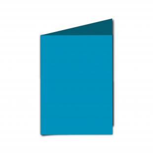 A6  Card  Blank  Ocean  Blue