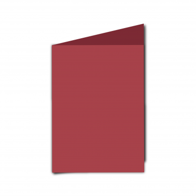 A6  Card  Blank  Ruby  Red