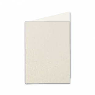 A6 Ivory Pearlised Card Blanks