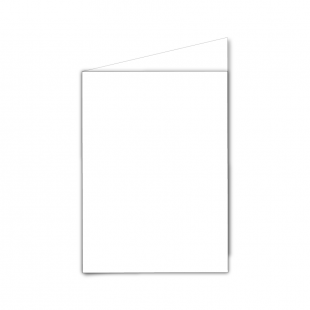 A6 Portrait White Plain Card Blanks